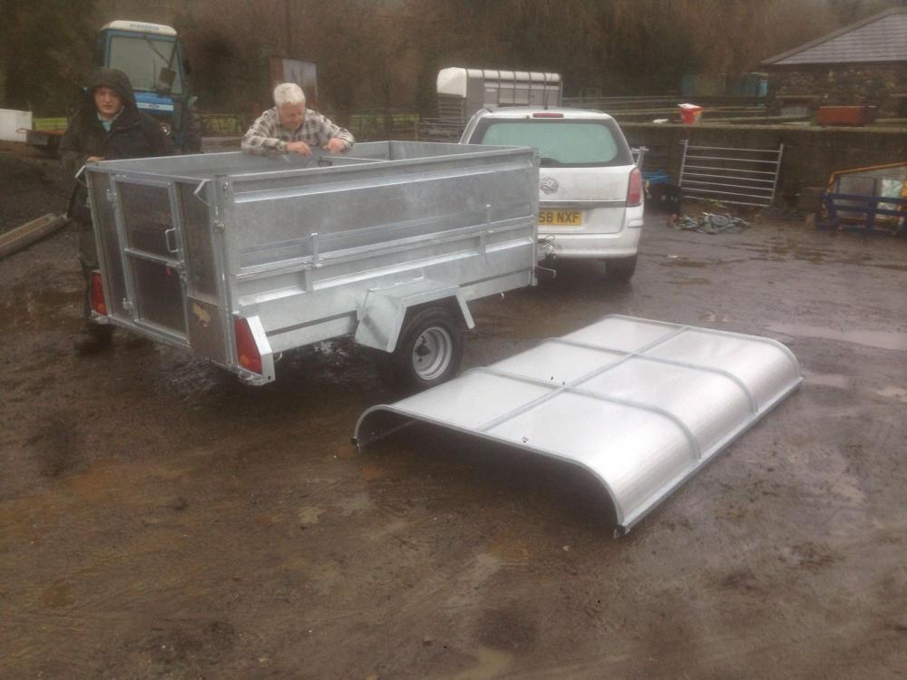 small livestock trailer 7x4 for sale rhodri wyn jones farm machinery